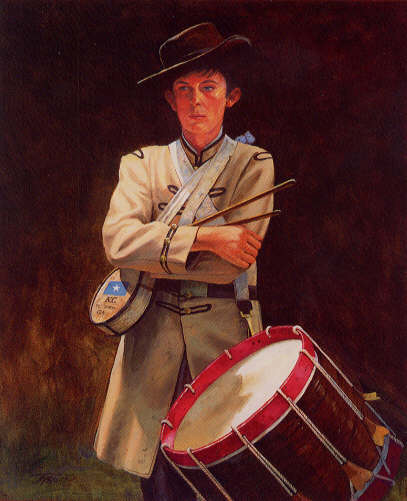 Civil war and historical art the drummer a drummer boy of the