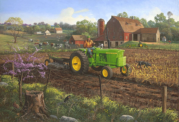 Girly John Deere Paintings : Charles freitag new era
