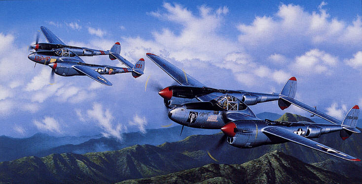 Richard Bong and Tom McGuire and the P-38 Lightning