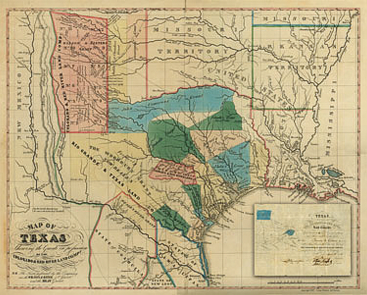 Map Of Texas 1835.Gary Crouch Texas Map Of 1835