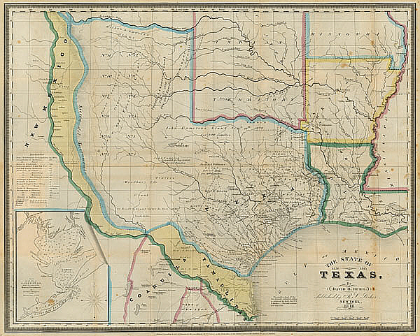 Map Of Texas 1836.Gary Crouch Texas Map Of 1836 1845